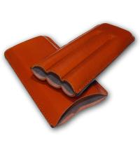 Plain Leather Cigar Case - Three Churchill - TAN
