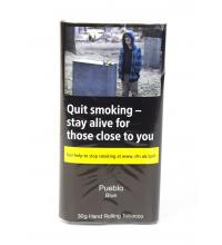 Pueblo Blue Hand Rolling Tobacco (Additive Free) 30g (Pouch)