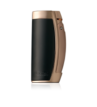 Colibri Enterprise - Triple Jet Lighter – Black and Rose Gold