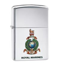 Zippo - High Polish Chrome Royal Marines Official Crest - Windproof Lighter