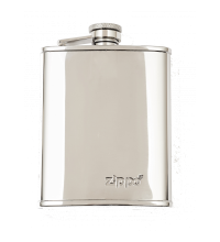 Zippo Polished 6oz Hip Flask - Stainless Steel