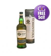 Tomintoul 15 Year Old Peaty Tang Single Malt Scotch Whisky - 70cl 40%