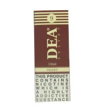 DEA Velvet Vape E- Liquid 10ml 09mg