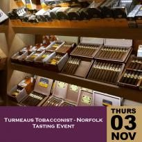 Turmeaus Norfolk Whisky and Cigar Tasting Event - 03/11/16