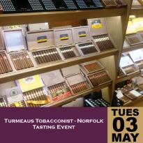 Turmeaus Tobacconist Norfolk Whisky and Cigar Tasting Event - 03/05/16