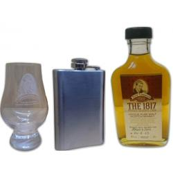The 1817 Private Reserve Cask Whisky 40%, 20cl with Hip Flask and Glass