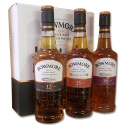 Bowmore Gift Set (12, 15, 18) - 3 x 20cl