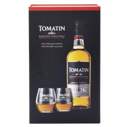 Tomatin Legacy Gift Pack - 1x70cl Bottle With 2 Glasses