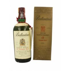 Ballantines 17 year old Very Old 1960s Gold Presentation Box - 43% 75cl