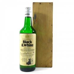 Black & White 1970s Buchanans Whisky In Wooden Presentation Box - 75cl 40%
