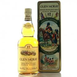 Glen Moray 12 Year Old Argyll and Sutherland Single Malt Scotch Whisky - 70cl 40