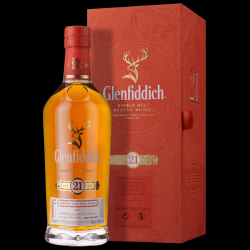 Glenfiddich 21 Year Old Reserva Rum Cask Single Malt Scotch Whisky - 70cl 40%