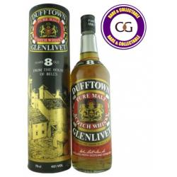 Dufftown Glenlivet 8 Year Old 60s/70s Pure Malt Scotch Whisky - 75cl 40%
