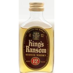 King's Ransom 12 Year Old Scotch Whisky Miniature - 40ml 43%