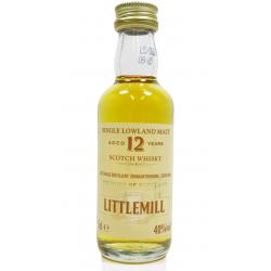 Littlemill 12 Year Old Single Malt Scotch Whisky Miniature - 5cl 40%