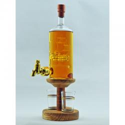 Ship in a Bottle with Tap & 2 Glasses - 350ml (Stylish Whisky) 40%