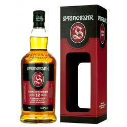 Springbank 12 Year Old Cask Strength 2018 Single Malt Whisky - 70cl 56.3%