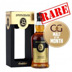 Springbank 21 Year Old 2017 Single Malt Scotch Whisky - 70cl 46%