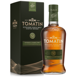 Tomatin 12 Year Old Bourbon & Sherry Cask Finish Whisky - 70cl 43%