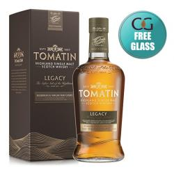 Tomatin Legacy Single Malt Scotch Whisky With Free Glass - 70cl 43%