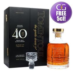 Tomintoul 40 Year Old Quadruple Cask Single Malt Scotch Whisky - 70cl 43.3%
