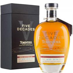 Tomintoul Five Decades 50th Anniversary Single Malt Scotch Whisky - 70cl 50%