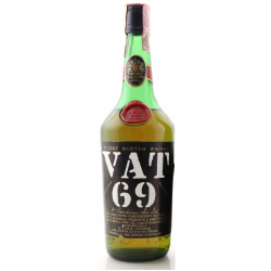VAT 69 1970s Slim Bottle Blended Scotch Whisky - 75cl 43%