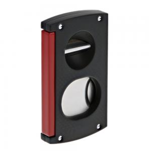 ST Dupont Cigar Cutter - Double Blade - Black & Red