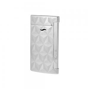 ST Dupont Slim 7 - Flat Flame Torch Lighter - Firehead Chrome