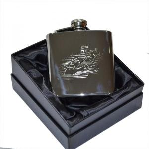 6oz Submarine Personalised Hip Flask