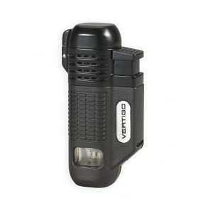 Vertigo by Lotus - Equalizer Quad Torch Flame Lighter - Black