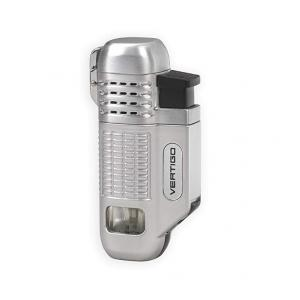 Vertigo by Lotus - Equalizer Quad Torch Flame Lighter - Silver