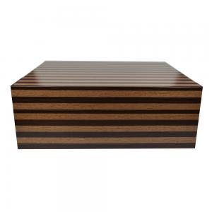Jemar Indian Collection Light Brown Stripe Humidor - 70 Cigar Capacity