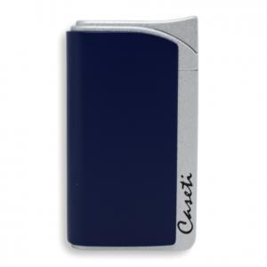 Caseti Jet Flame Lighter - Matt Blue & Matt Silver - MFH 492