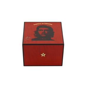 Elie Bleu Che Collection Robusto Red Humidor - 25 Cigar Capacity