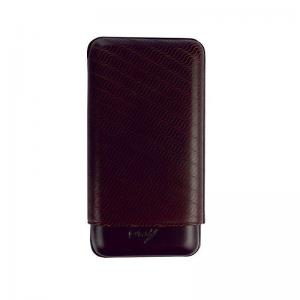 Davidoff Classic Essentials Enjoyment Cigar Case - 3 Cigars - Brown
