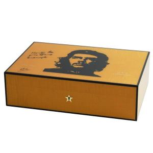 Elie Bleu Che Collection Sycamore Orange Humidor - 110 Cigar Capacity