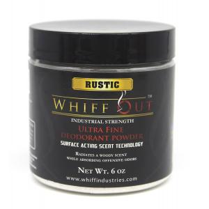 Whiff Out Ultra Fine Deodoriser Powder - Rustic Scent - 6oz Jar