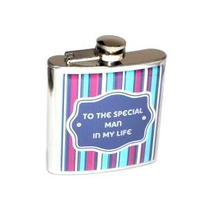 "6oz ""To the Special Man in my Life"" Design Personalised Hip Flask"