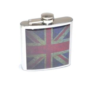 6oz Distressed Union Jack Personalised Hip Flask
