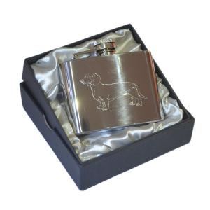 6oz Dachshund Personalised Hip Flask