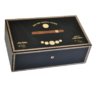 Elie Bleu Medals Collection Black Humidor - 120 Cigar Capacity