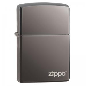 Zippo - Black Ice with Logo - Windproof Lighter