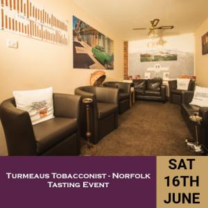 Turmeaus Norfolk Whisky and Cigar Tasting Event - 16/6/18