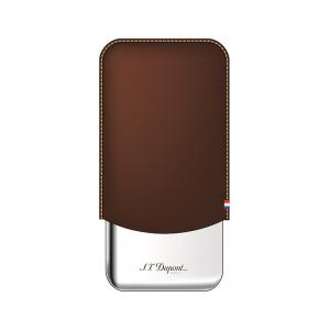 ST Dupont Leather Triple Cigar Case Metal Base - Brown
