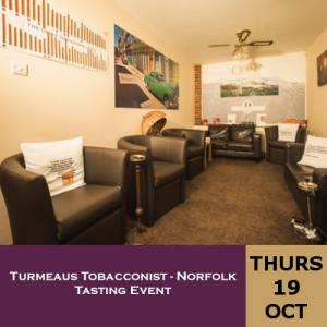 Turmeaus Norfolk Whisky and Cigar Tasting Event - 19/10/17
