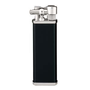 Tsubota Pearl - Bolbo Pipe Lighter - Black and Chrome