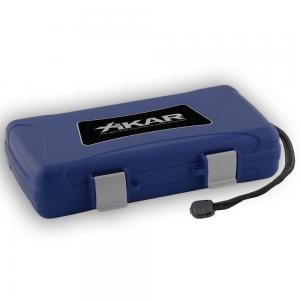 Xikar Travel Waterproof Blue Case - 5 Cigar Capacity