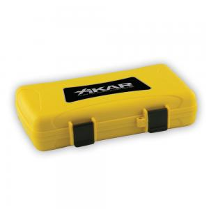 Xikar Travel Waterproof Yellow Case - 5 Cigar Capacity