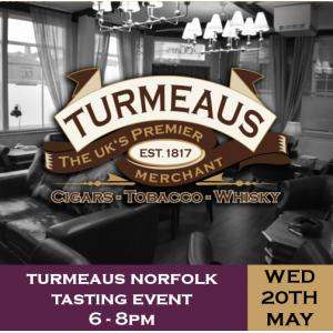 Turmeaus Norfolk Cigar and Spirit Tasting Event -  20/05/20